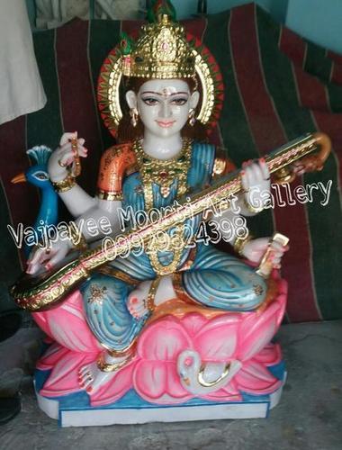 Marble Marble Saraswati Statue
