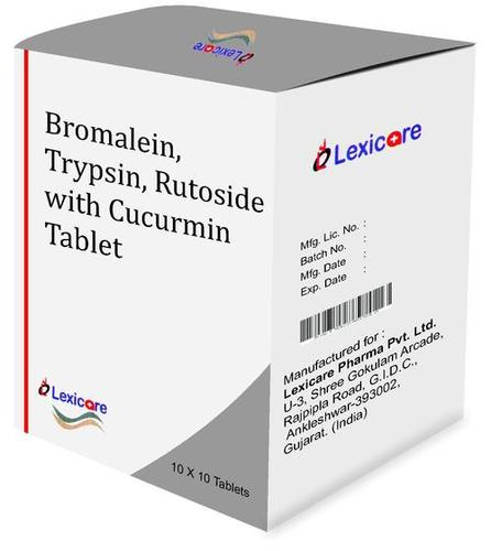 Bromalein and Trypsin and Rutoside and Cucurmin Tablets