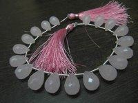 Rose Quartz 10x14mm Tear Drop Shape Hydro Quartz Beads