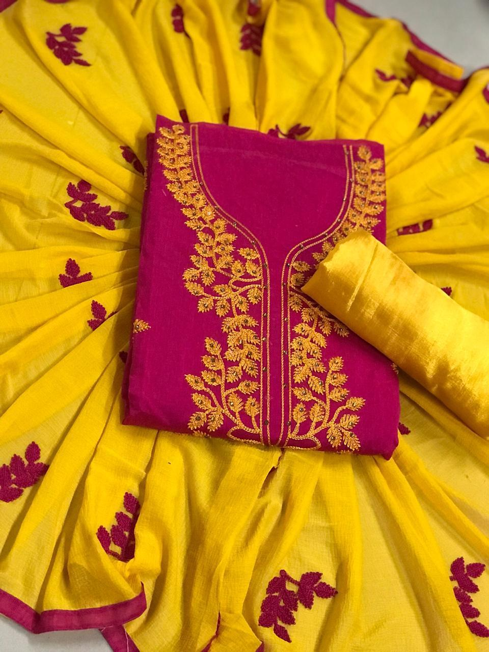 Exclusive Embroidered Ladies Dress Material