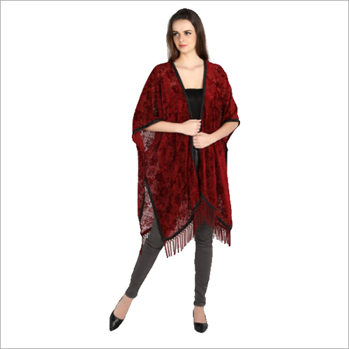 Velvet Cover up with Tassels