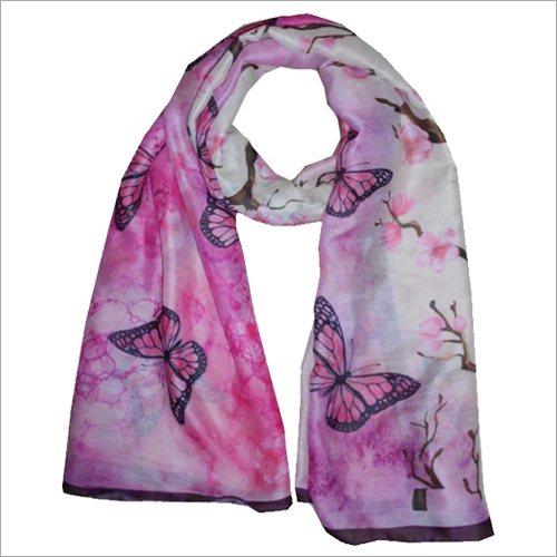 Digital Printed Butterfly Scarves