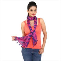 Printed  Scarves  with Tassels