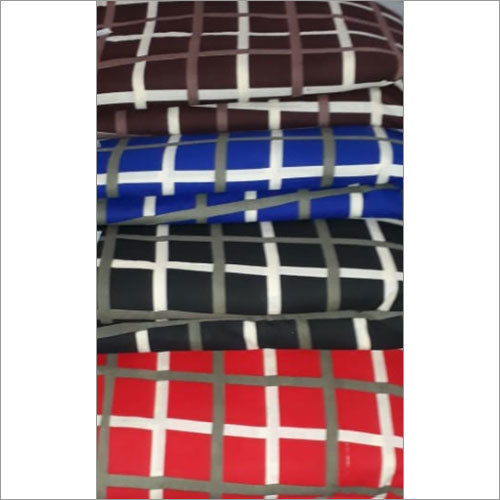 Pigment Large Check Cotton  Fabric