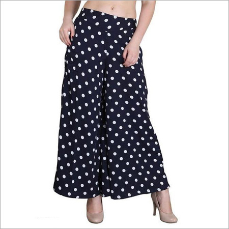 Ladies Dotted Print Palazzo