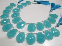 Aqua Chalcedony 16x23 mm Pear Shape Hydro Quartz