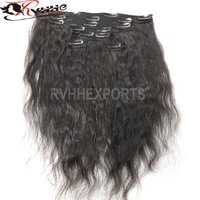 Full Cuticle Aligned Clip Raw 9A Indian Virgin Human Hair
