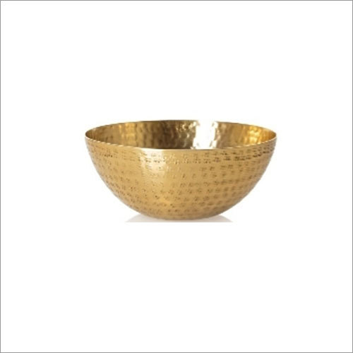 Hammered Gold Bowl