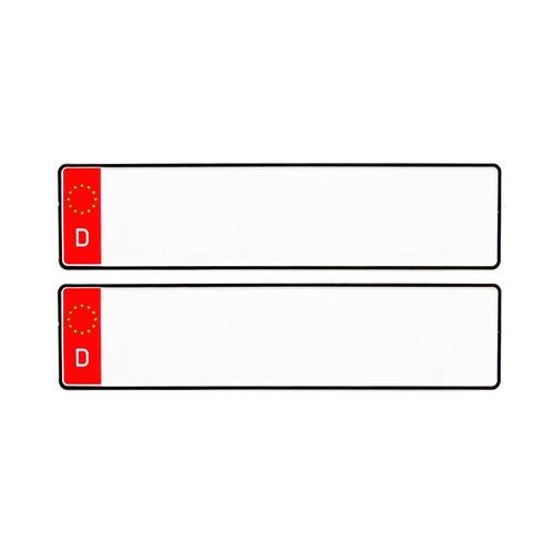 D NUMBER PLATES RED DESIGN