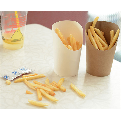 Disposable Brown Kraft Paper French Fries Box