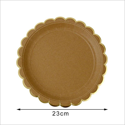 Diposable Round Kraft Paper Plates