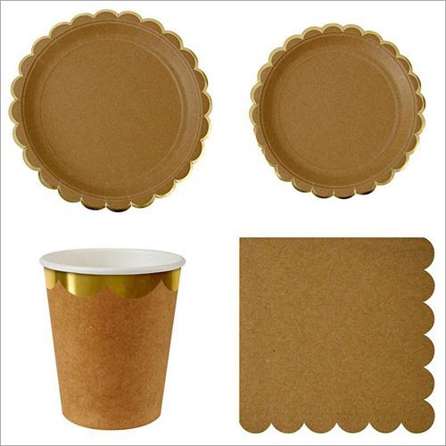 Personalized Kraft Paper Plates