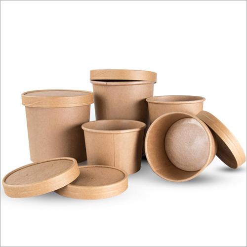 Disposable Kraft Paper Soup Cup
