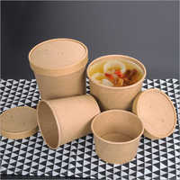 Brown Kraft Paper Soup Cup