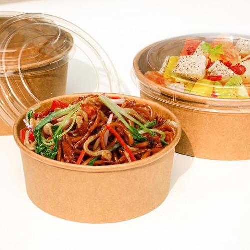 Kraft Paper Disposable Serving Bowl