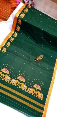 Rich Cotton Silk  saree with Blouse Piece