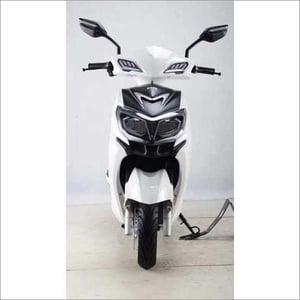 White Electric Scooty