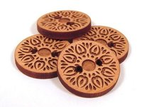 Engraved Wooden Button