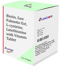 Biotin and Saw Palmetto Ext. and L-Cysteine and Lmethionine and Vitamin Tablets