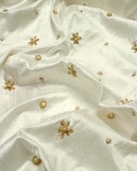 Embroidered Dupioni Fabric / Dhupion Embroidery Fabric