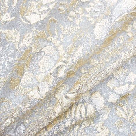 Embroidered Dupioni Fabric / Dhupion Embroidery Fabric