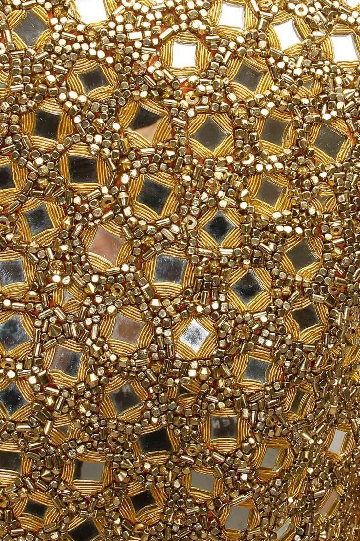 Mirror Embroidery Work / Mirror Work Fabric