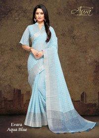 Fancy Linen Saree