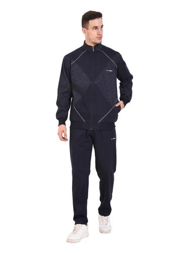 Mens Fleece Tracksuit (Navy)
