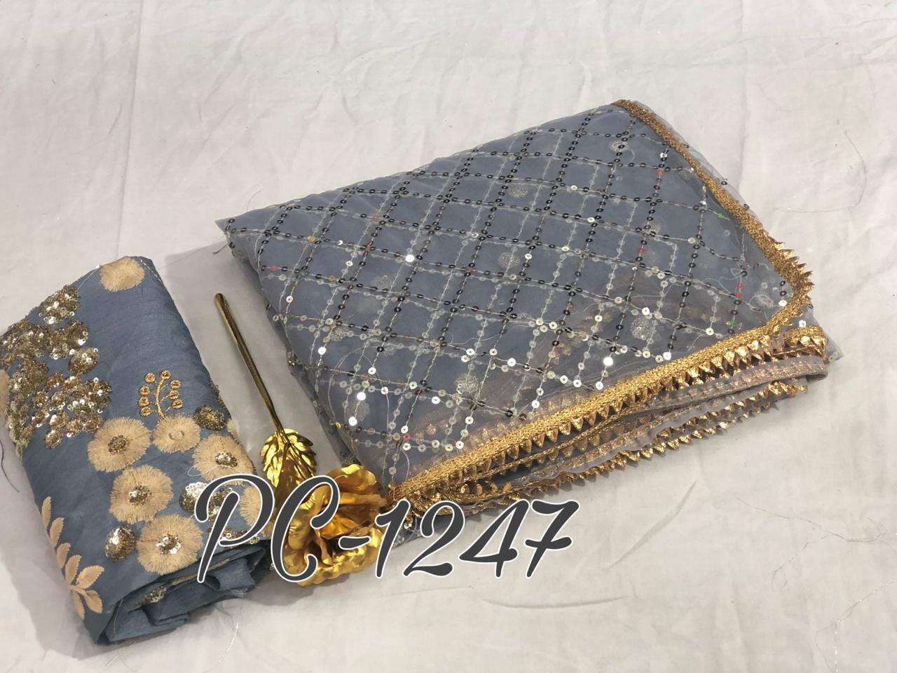 Soft Net Fashion Designer Partywear Sarees