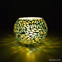 Decor Gift Handcrafted Glass And Candle Light