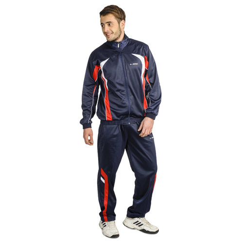 Mens Polyester Tracksuit (Navy Red)