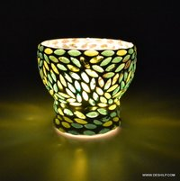 Mosaic Glass Candle Holder Home Decor Gift