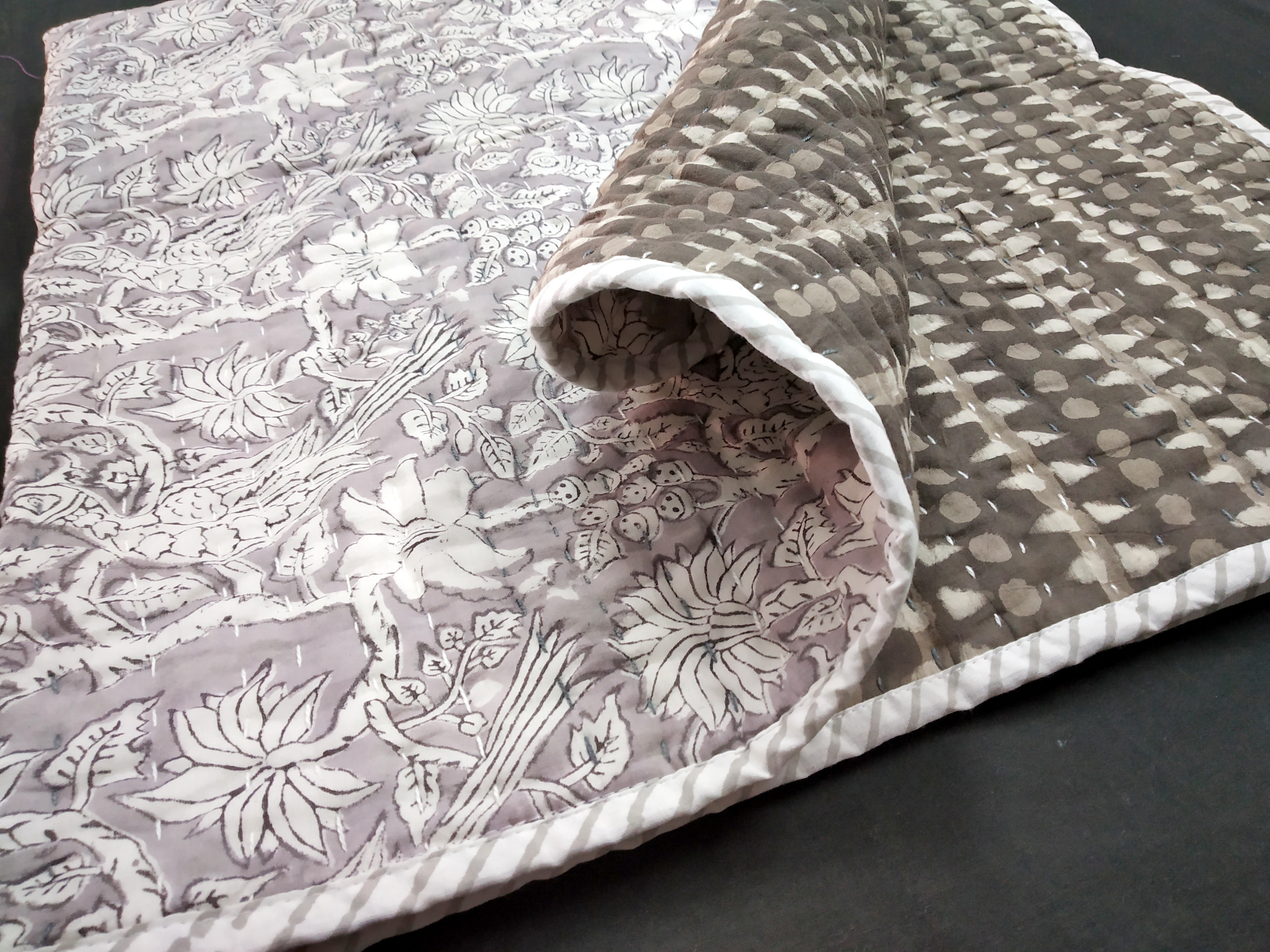 Hand Block Print Baby Wrap Masin Quilts