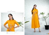 Stylish Casual Satin Kurti
