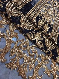 Custom Embroidery Sequin Fabric