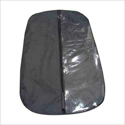 Suitcover fabric with front side half transparent