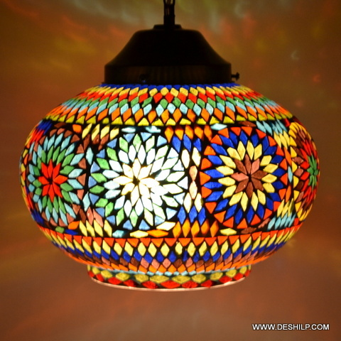 Hanging Style Lamp Glass Vintage Fixture Lighting