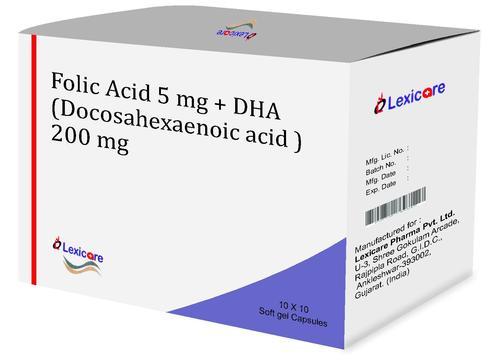 Folic Acid and DHA Softgel Capsules
