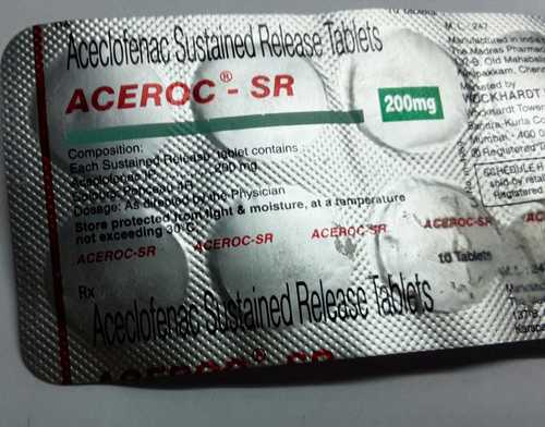 aceclofenac sustained relase tablets