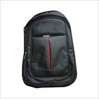Black and red school bag