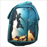 Blue school bag