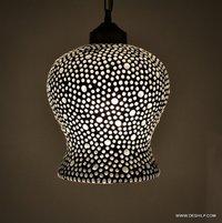 Mosaic Pendant Hanging Lamp Vintage Antique Hanging