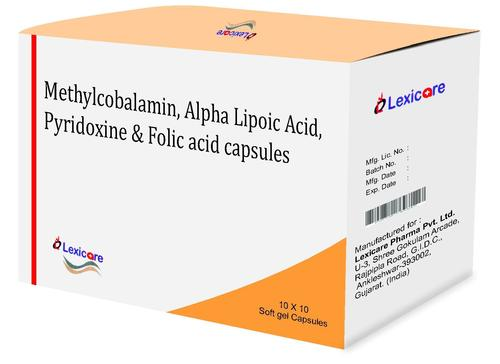 Methylcobalamine and Alpha Lipoic  Acid and Pyridoxine and Folic Acid Softgel Capsules