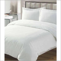 Plain White Cotton Double Bedsheets With Pillow