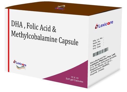 DHA and Folic Acid and Methylcobalamine Softgel Capsules