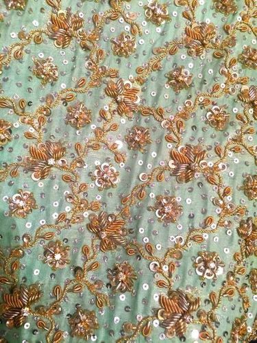 Aari Hand Work Embroidery Service / Aari Work Fabric