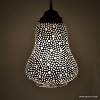 Mosaic HAND MADE Hanging Lantern Mosaic Lamp