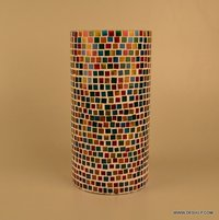 Mosaic Glass Vase Glass Mosaic Vase Blue Mosaic Decorative Vase Black Grey Mosaic Vase