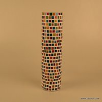 Mosaic Glass Vase Purple Stained Glass Mosaic Vase Mosaic Decorative Vase