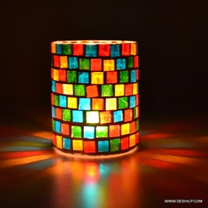 Glass Candles Stand Gifts for Diwali